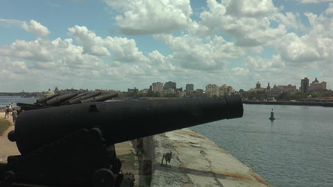 Old Canons At Fort Of Saint Charles (Fortaleza De  stock footage