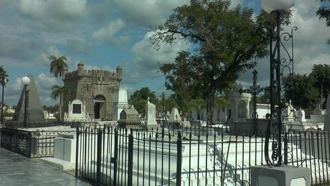 graves and mausoleum at santa ifigenia cemetery,sa Footage