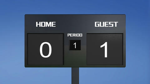 soccer match scoreboard home lost sky Animation