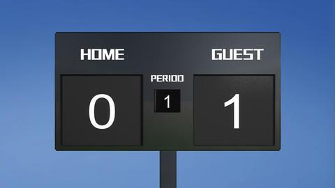 soccer match scoreboard home lost sky Animation