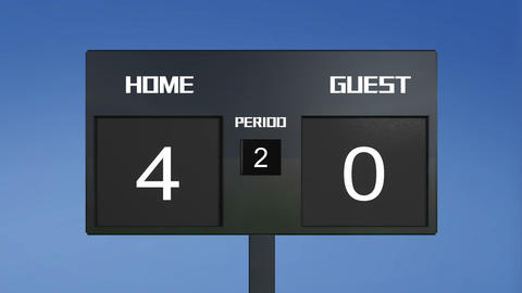 soccer match scoreboard home Wins sky Animation