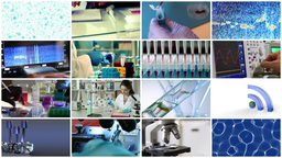 collage video science and technology Footage