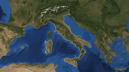 Italy. Earth In Space - Zoom In On Italy stock footage