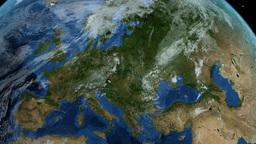 Slow passage through Europe 4K - Earth Animation