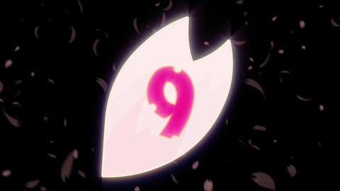 Sakura Count Down 01 stock footage