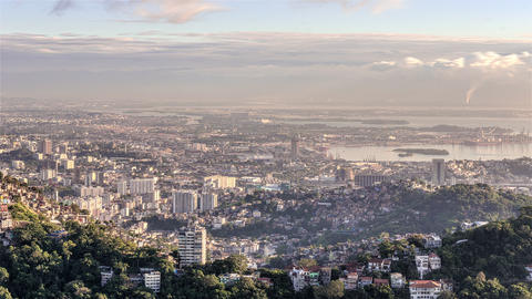 Time-lapse city view of Rio de Janeiro, Brazil Live Action