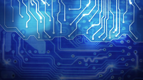 blue computer circuit board loop background Animation