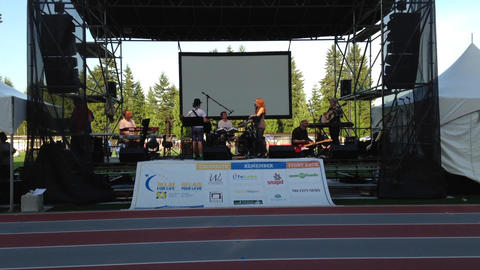 Special event with relay for life concert Footage