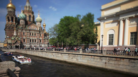 Travel to Russia St. Petersburg in the summer Footage