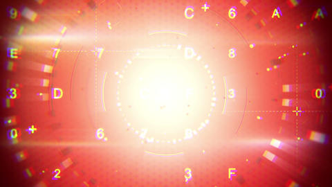 Red Abstract Techno Loopable Background stock footage