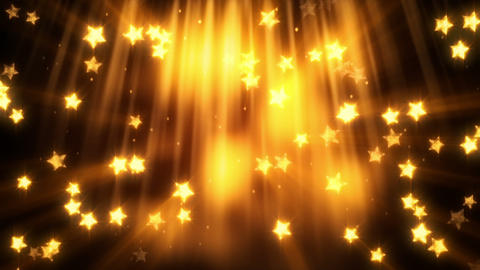 falling gold star shapes loopable background Animation