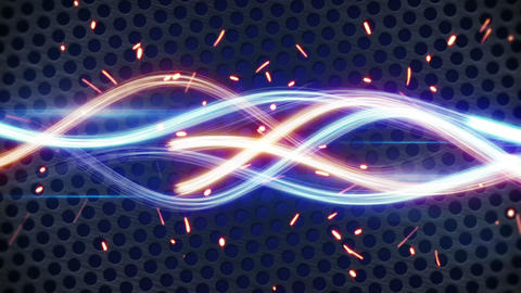 glowing light painting streaks loopable background Animation