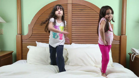 Little girls practicing their training. One for mo Footage