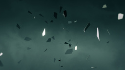 Flying fragments of metal Animation