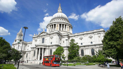 Time Lapse Of St. Paul's Cathedral In London With  stock footage
