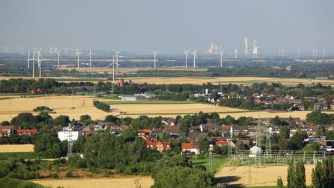 West German Energy Landscape Timelapse Footage
