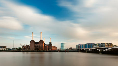 Battersea Power Station Long Exposure Time Lapse,  Footage