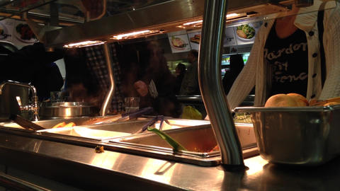 Food Stall In Food Court stock footage