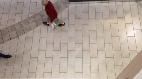 People walking inside mall Footage