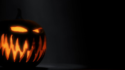 Halloween Pumpkin Head Rolling stock footage