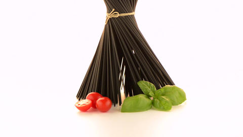 Bunch of black spaghetti Footage