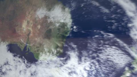 3DCG地球オーストラリアへズームイン Footage