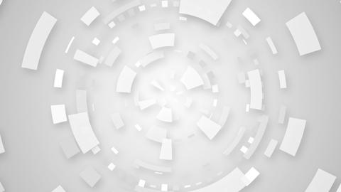 white techno circular segments loop background Animation