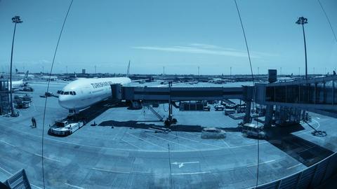 Istanbul. Ataturk Airport. Timelapse. 4K ビデオ