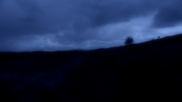 Night Time Countryside Landscape stock footage