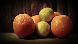 Artistic presentation of Oranges HD Stock Footage Footage