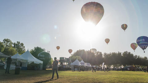 Temecula Wine And Hot Air Balloon Festival Time La stock footage