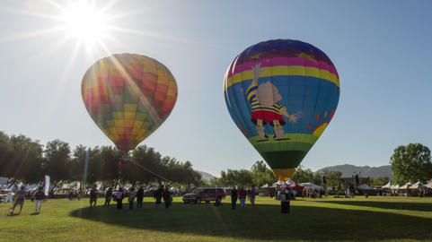 Temecula Wine and Hot Air Balloon Festival Time La Footage