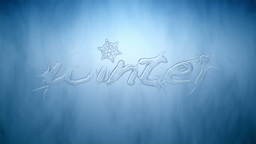 "Animated growing text ""winter"" with ice crystals Animation"