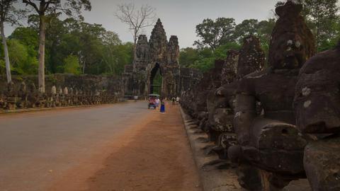 Angkor Thom gate hyperlapse 4K Footage