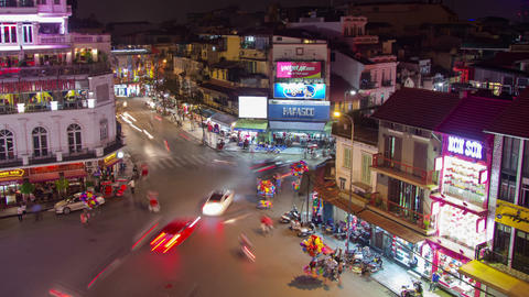 Hanoi traffic timelapse Footage