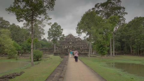 Way to Phimeanakas temple hyperlapse Footage