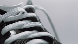 Trainer Shoe Or Sneaker Close Up HD Stock Footage stock footage