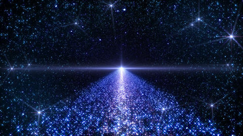Space Stars milky way B 3b 4k CG動画素材