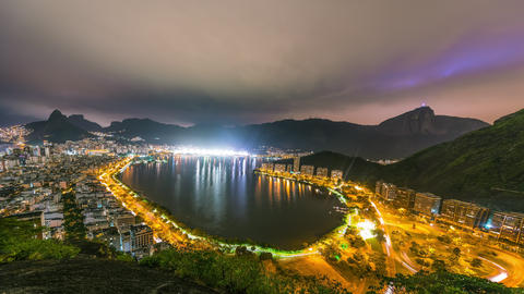 Time lapse overlooking the bay of Rio de Janeiro Brazil Footage