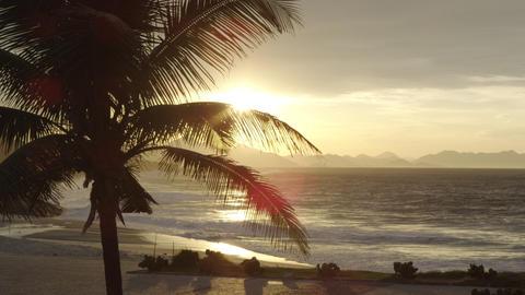 Ipanema panorama at sunset Footage