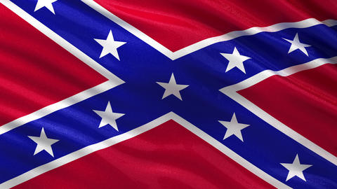 Seamless loop of the Confederate Flag Animation