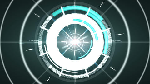 Abstract Hi-tech Circle Element stock footage