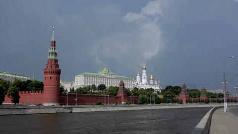 View of Kremlin Wall, Towers Footage