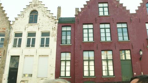 Buildings Of Bruges, Belgium stock footage