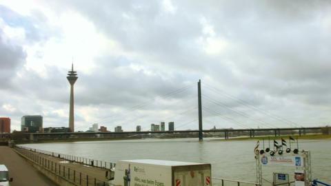 Dusseldorf Tower. Germany Footage