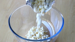 Popcorn In The Bowl stock footage