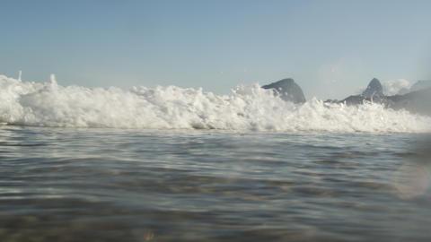 An ocean wave off the coast of Copacabana - Rio de Janeiro, Brazil Footage