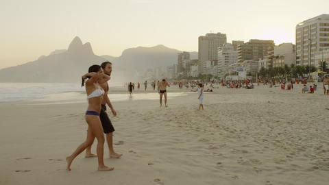 RIO DE JANEIRO, BRAZIL - JUNE 23: Slow pan over a favela community in Rio de Jan Footage