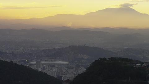 Still clip of the morning sky in Rio de Janeiro over a cityscape Footage