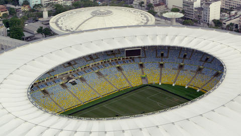 Aerial Tracking Footage Of Maracana Stadium stock footage